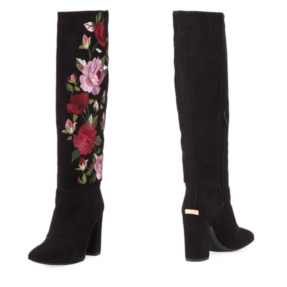 1f4eb70b0c8 kate spade Shoes - NEW Kate Spade Floral Embroidered Suede Boots